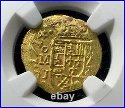 Very Rare 1 Escudo Gold Philip V. Year 1715. Mexico Mint. Ms 64! 1715 Fleet