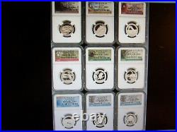 (lot Of 10) Ngc Pr 69uc Or Rp69 Silver Coins -show Special- No Ngc Box#2
